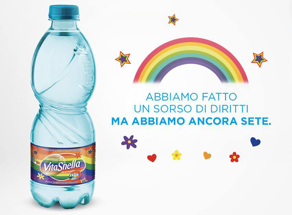 Acqua Vitasnella supporta con orgoglio l'Onda Pride